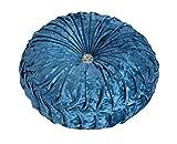 Monbedos Dicke Sitz-Pads Samt Rund Stuhl Kissen, Kissen Geeignet für Esszimmer Wohnzimmer Terrasse Garten Büro Coffee Shop Hellblau