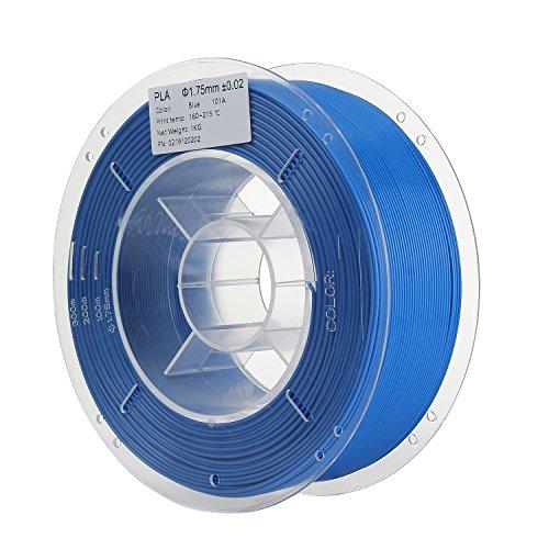 HICTOP 3D-Drucker PLA Filament 1.75mm Dimensional Genauigkeit +/- 0,05 mm 1 kg Spule (blau)