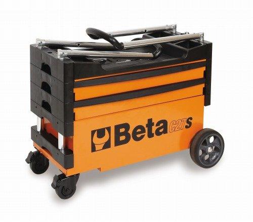 Beta-Werkzeuge C27S faltbar Werkzeug Trolley–schwarz/orange