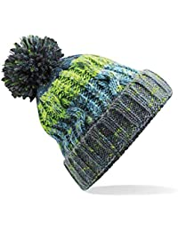 ee0b82a2ac5 ASVP Shop Corkscrew Cable Knitted Bobble Hat Plain Boys Girls Beanie Warm  Winter Pom Wooly Cap