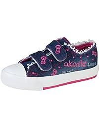 Kentti Lifestyle, Zapatillas de deporte de lona con velcro para niña