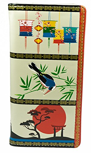 Shagwear portafoglio per giovani donne , Large Purse : Diversi colori e design: (giardino giapponese/ Japanese Tapestry)