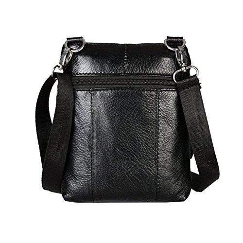 Yy.f Business-Taschen Männer Schulter Kurierbeutel Männer Leder-Umhängetasche Feste Tasche Freude Tasche Farbe 2 Black