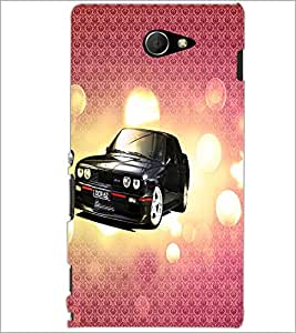 PrintDhaba Car D-3430 Back Case Cover for SONY XPERIA M2 (Multi-Coloured)
