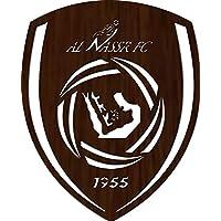 ليزرأرتس لوحة جدارية خشبية، شعار نادي النصر 90*65سم، 3 ملم - BD311224