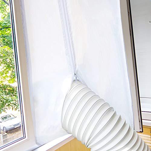 Guarnizione per Finestra per Condizionatore Portatile e Asciugatrice, Homegoo Airlock per Finestra universale con lunghezza massima di 400CM