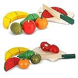 Alimentazione Giocattoli di legno da taglio alimentare Set Pretend taglio tavola di legno Giochi insiemi dell'alimento per bambini da NimNik