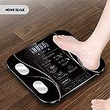 Bilancia Pesa Persona Digitale, Womdee Scala del grasso corporeo Smart BMI Scale Bilancia da bagno digitale Bilancia per la composizione corporea Analizzatore Bilance per BMI Peso corporeo Grasso
