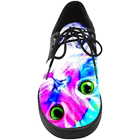 Dalliy costume Galaxy Cat Lace Up Shoes Casual scarpe da