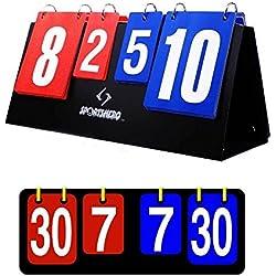 Tableau pense-bête marque compte points portable pour Ping Pong Tennis Badminton Volleyball Handball