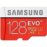 Samsung EVO Micro SD + 128Go 128Go Carte mémoire microSDXC UHS-I classe 10–Cartes mémoire (microSDXC, -25–85°C, rouge, blanc, -40–85°C, Classe 10UHS-I,)
