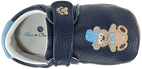 Rose & Chocolat RCM Chaplin Bear Baby Jungen Lauflernschuhe Sneaker Blau (Navy)