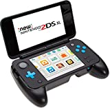 BRENDO Comfort Hand Grip Case for NEW Nintendo 2DS XL Console, Play Stand and hard back cover case for Nintendo 2DS XL