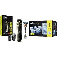 Braun Barttrimmer BT3241 Trimmer und Haarschneider für Herren, 39 Längeneinstellungen, schwarz/volt-grün & Clean & Renew…