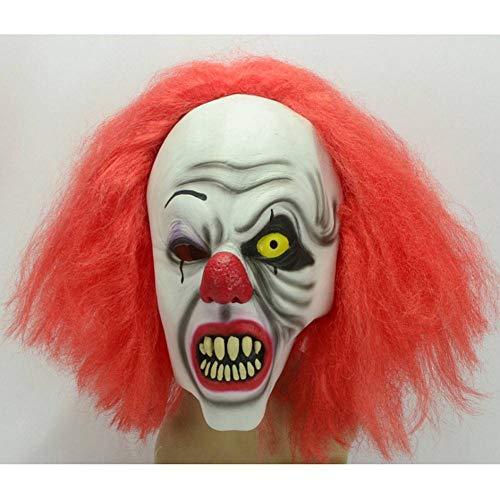 AIYA Halloween rothaarige einäugige Clown Maske Latexhaube