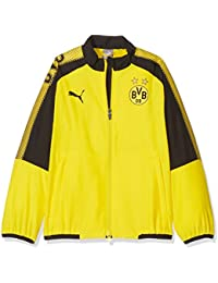 Puma BVB Leisure JKT with out Logotipo del patrocinador with 2 Side Pockets  Wit Chaqueta a268b6f1dc6