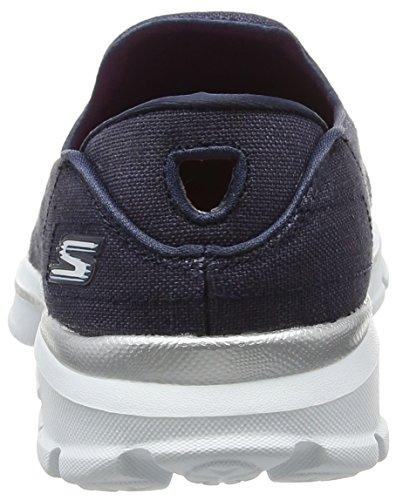 Skechers Gowalk 3 Rivera, Baskets Basses femme Bleu - Blue (Nvw)