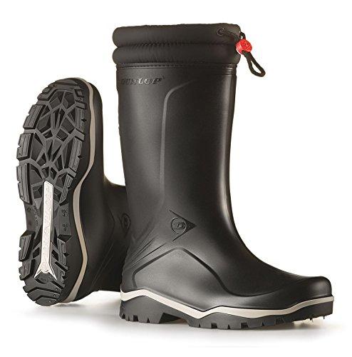 Dunlop Blizzard Bottes d'hiver en caoutchouc Unisexe avec intérieur en fourrure synthétique Noir - Noir