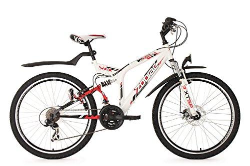 KS Cycling Fahrrad Mountainbike ATB Fully Zodiac RH 48 cm, Weiß, 26 Zoll, 327M
