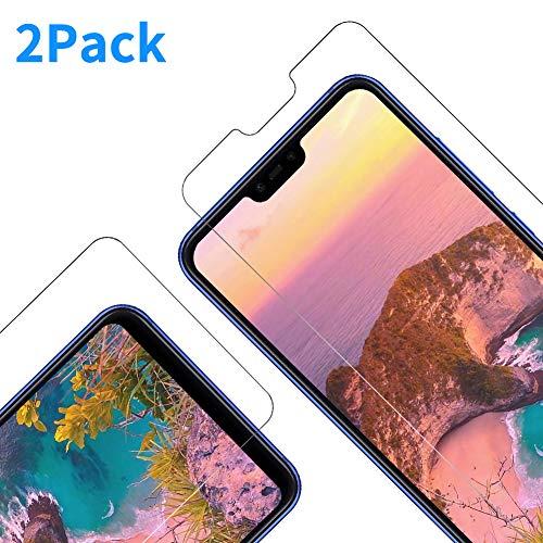 Vkaiy Panzerglas Schutzfolie für Xiaomi Mi 8 Lite, [2 Stück] Ultra-Klar Glas 9H Härte 3D Touch Kompatibel Anti-Kratzen, Anti-Öl, Anti-Bläschen für Xiaomi Mi 8 Lite