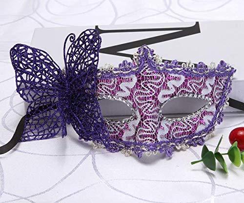 suxian Schmetterling venezianische Maske, Fashion Masquerade Maske Kostüm Party Halbmaske (lila)