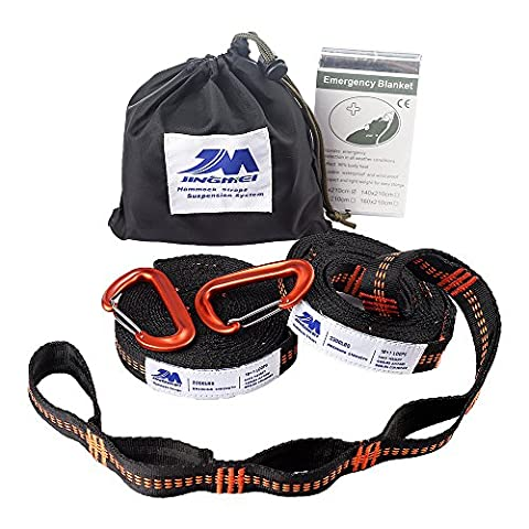 XL Hammock Straps& Carabiners, 9.2 Feet Long,18+1Adjustable Loops Extra Strong & Lightweight 2200+LBS Breaking Strength, No Stretch Polyester Tree Friendly, Quick Easy Setup Suspension