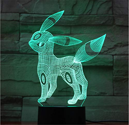 3D Veilleuse Belle Pokemon Go Jeu USB RGB Lampe Led Table De Bureau Lumière Kawaii Enfant Enfant Jouet Cadeau De Noël