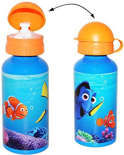 Alu - Trinkflasche / Sportflasche - auslaufsicher -  Disney - Findet Nemo / Fisch Dory  - aus Aluminium 450 ml - für Kinder Aluflasche 0,45 Liter / 450 ml -.. ()
