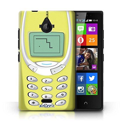 KOBALT® Hülle Case für Nokia X2 Dual Sim | Gelbes Nokia 3310 Entwurf | Vintage Handys Kollektion