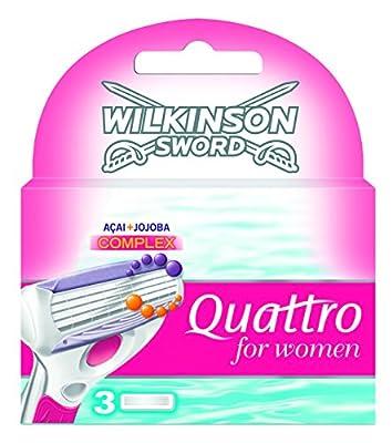 Wilkinson Sword Quattro For Women Razor Blades 3 Pack