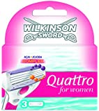 Wilkinson - 70041430 - Quattro for Women - Pack de 3 Recharges
