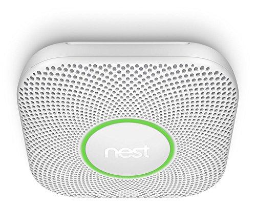 Nest Protect 2generación de humo y detector de monóxido de carbono, 1pieza, color blanco, s3000bwde
