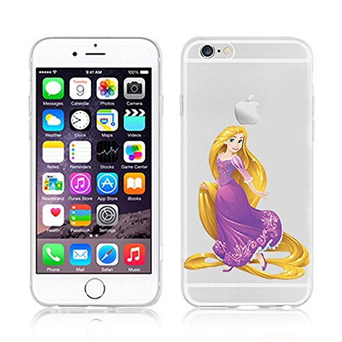 New Disney Prinzessinnen transparent klar TPU Soft Case für Apple iPhone 5/5S, plastik, RAPUNZEL .1, Apple iPhone 5/5S RAPUNZEL .1
