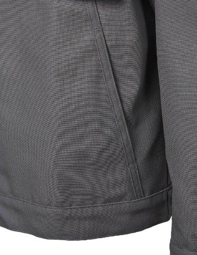 PIONIER WORKWEAR Herren Blousonjacke Canvas-Cordura® in schwarz (Art.-Nr. 2202) schwarz,Größe XXL Dunkelgrau