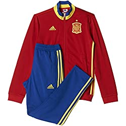 adidas Federación Española de Fútbol Euro 2016 - Chándal para niños, color rojo/amarillo/azul, talla 140