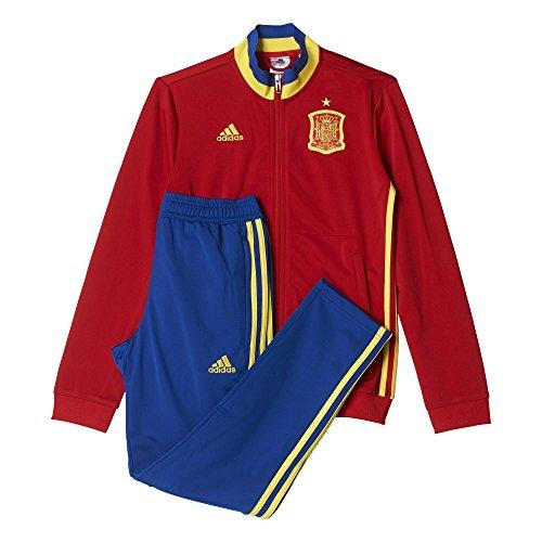 Adidas FEF PES Suit Y Traje de Chándal Selección de España 2016, Niños, Rojo/Amarillo / Azul, 128