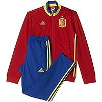 adidas Federación Española de Fútbol Euro 2016 - Chándal  para niños, color rojo / amarillo / azul, talla 152