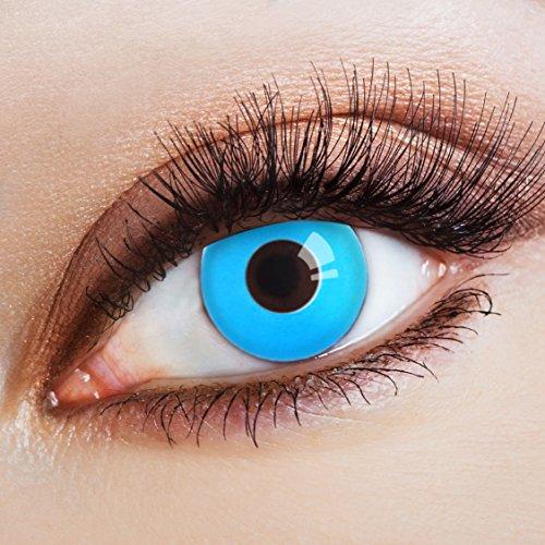 n Farblinsen blaue Kontaktlinsen farbig hellblaue Jahreslinsen ohne Stärke ()