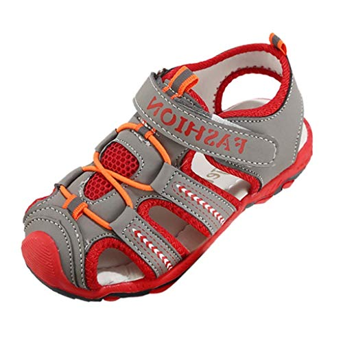 Gold Toe Outlet (Vamoro Kleinkind Kinder Schuhe Baby Boy Girl Closed Toe Sommer Strand Sandalen rutschfest Schuhe Turnschuhe Outdoor Sports Trekkingsandalen Atmungsaktiv und schnell (Grau,30 EU))