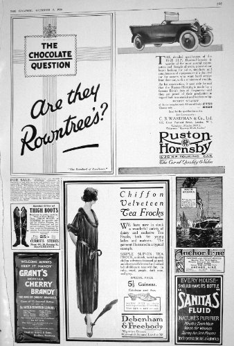 1920 RUSTONCITY IN LOUISIANA USA ROWNTREES HORNSBY MOTOR DEBENHAM BRANDY MELTIS CAR SCHUHE STIEFEL (Schuhe Brandy)