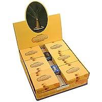 Satya Nag Champa - Incenso in coni, aroma al sandalo, 12 pezzi