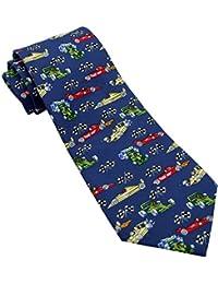 Blue Formula One Novelty Tie