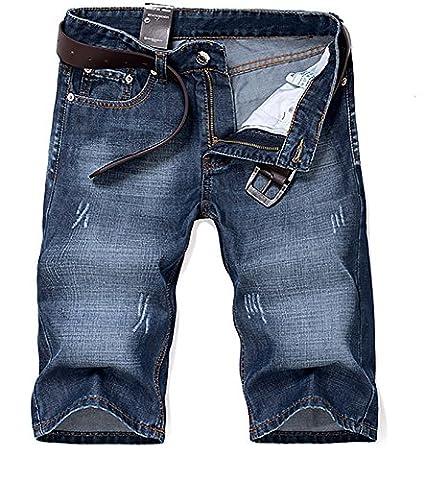 Herren Denim Jeans Shorts Sommer 5-Pocket Stil (ohne Gürtel