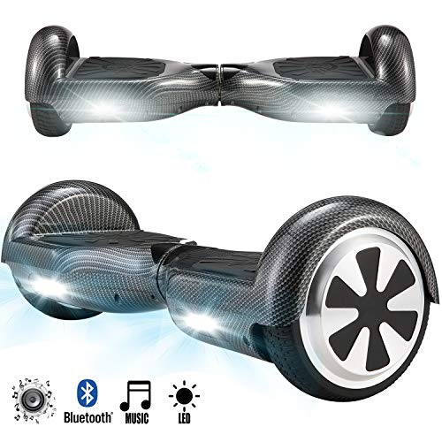 Magic Vida Skateboard Électrique Bluetooth 6.5 Pouces Hip Hop Puissance 700W avec LED Gyropode Musique Auto-Équilibrage pour Enfants et Adultes Gyropode 2 Roues