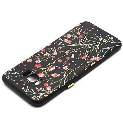 Coque Galaxy S8, Étui Galaxy S8, ISAKEN Coque Samsung Galaxy S8 - Étui Housse Téléphone Étui TPU Silicone Souple Coque Ultra Mince Gel Doux Housse Motif Arrière Case Antichoc Doux Durable Résistant Au fleur A