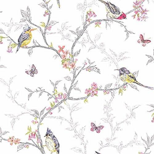 white-98080-phoebe-birds-trees-blossom-butterflies-statement-holden-decor-wallpaper-by-holden-decor