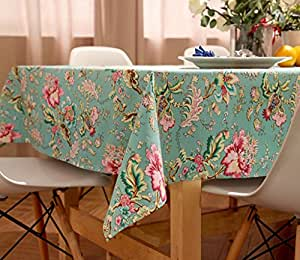 Hjhy tablecloth cotton linen modern simple style active printing coffee table dining heat - Heat resistant table cloth ...