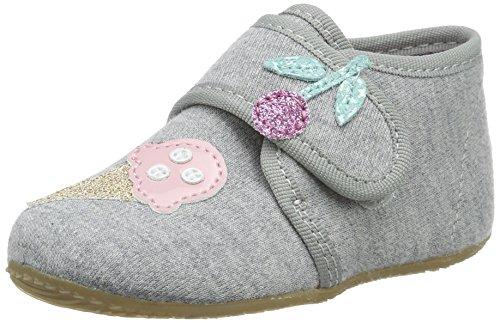 Living Kitzbühel - Baby Klett, Pantofole Bimba 0-24 Grigio (Hellgrau)