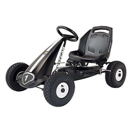 Preisvergleich Produktbild Kettler Kettcar Daytona Air - DAS ORIGINAL - Kinder Go Karts - robustes Tretauto - mit Luftbereifung - schwarz & weiß