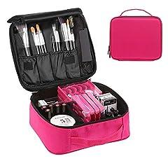Idea Regalo - Trousse Make Up, Borsa Cosmetica, Beauty Case Donna Trucchi Porta Trucchi da Viaggio Organizer Professionali (Carmine)